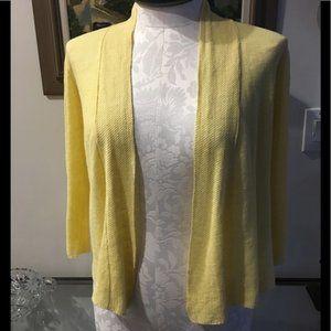 NWOT Eileen Fisher 100%linen open cardigan Sz xs